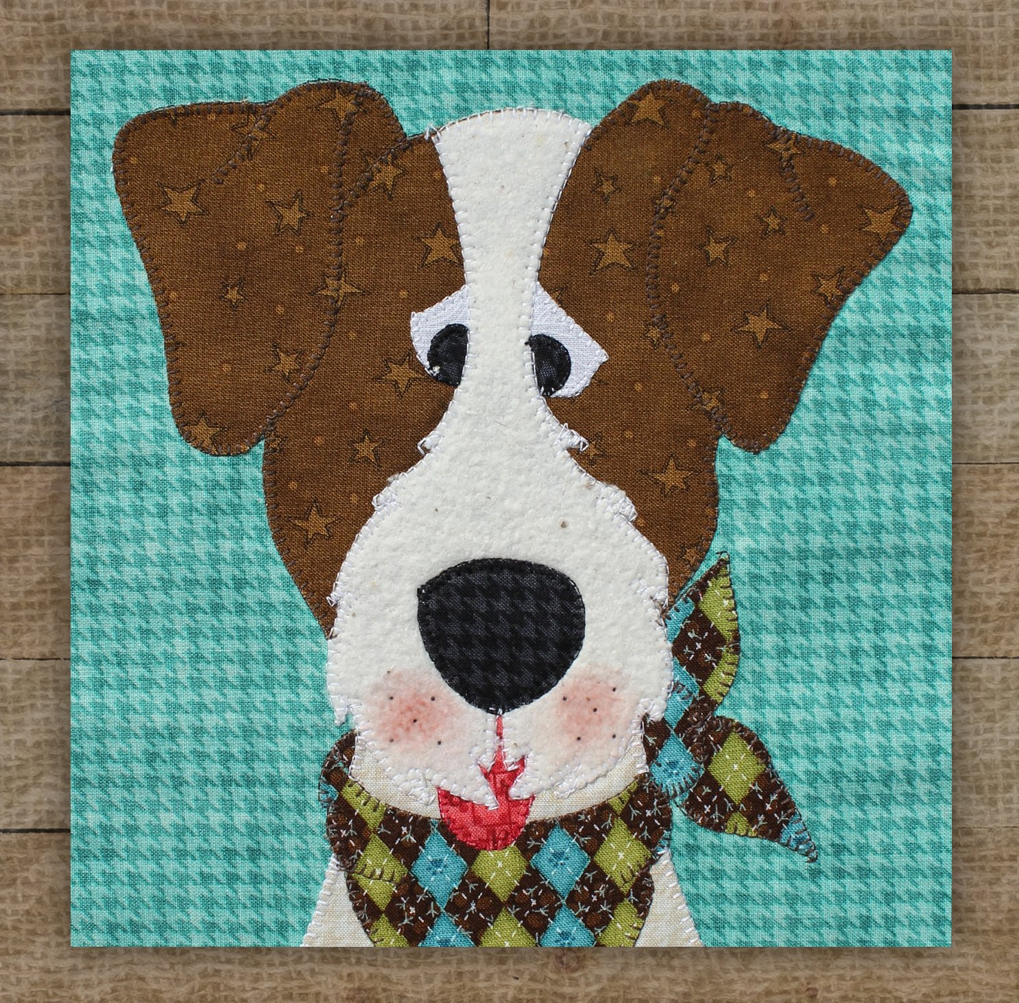 Jack Russell Terrier Precut Fused Applique Kit