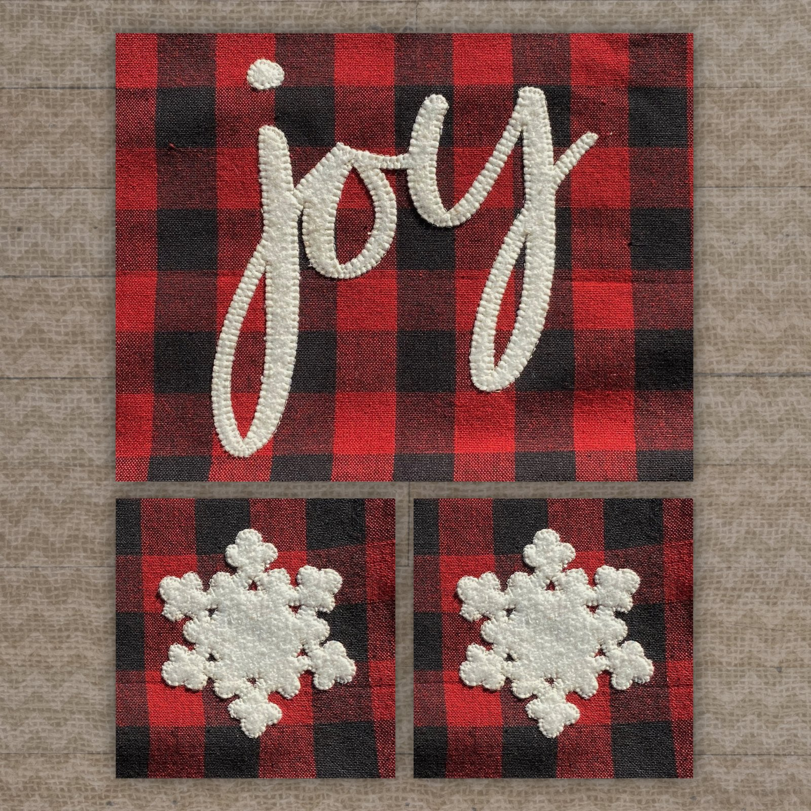 Joy & Snowflakes Precut Fused Applique Pack