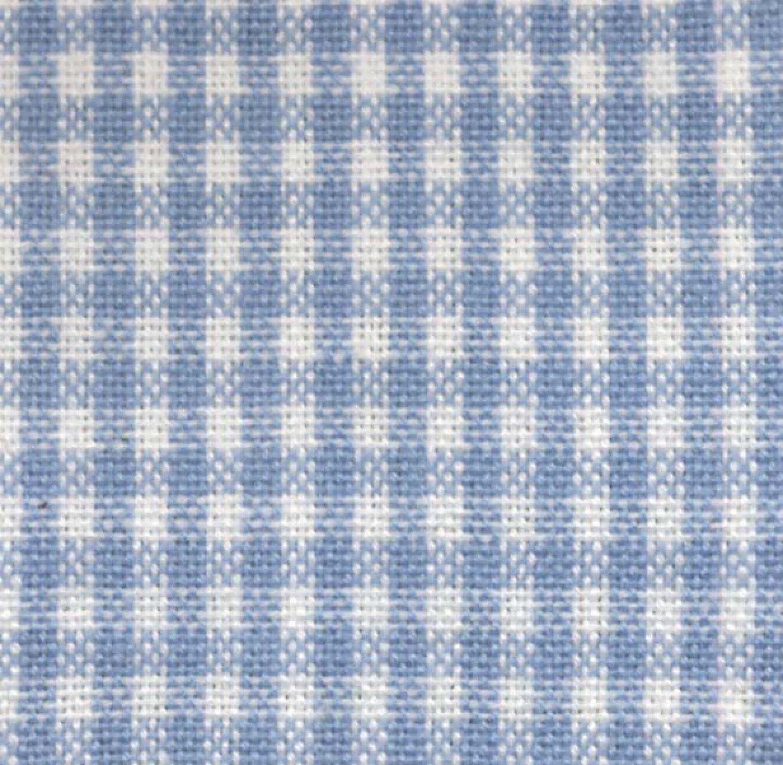 Tea Towel Mini Check Light Blue/White