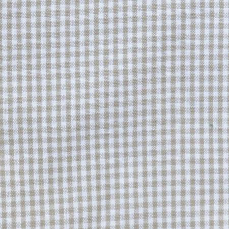 Tea Towel Mini Check Taupe/ White