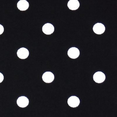 Tea Towel Polka Dots Black