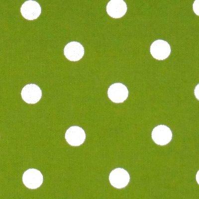 Tea Towel Polka Dots Lime Green