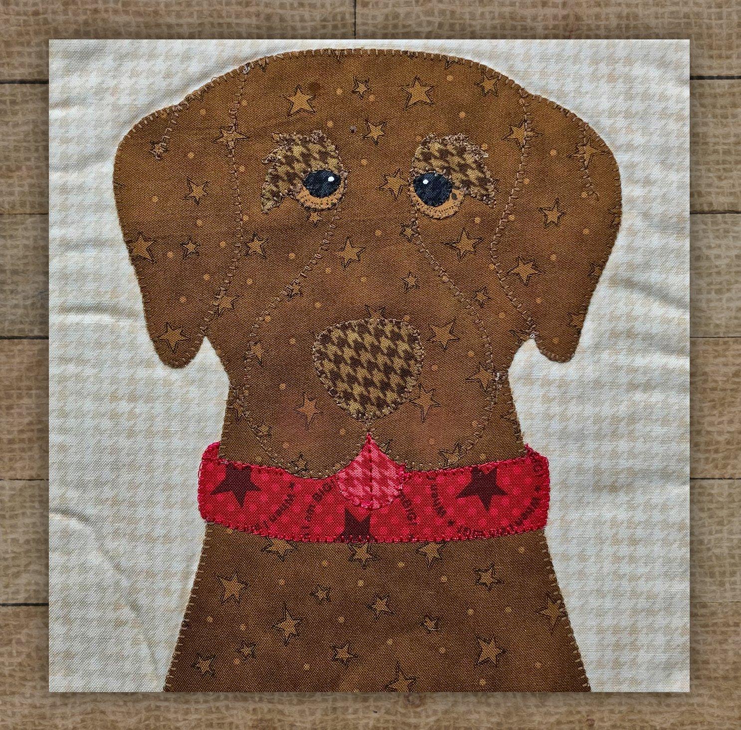 Labrador Retriever (Chocolate) Precut Fused Applique Kit