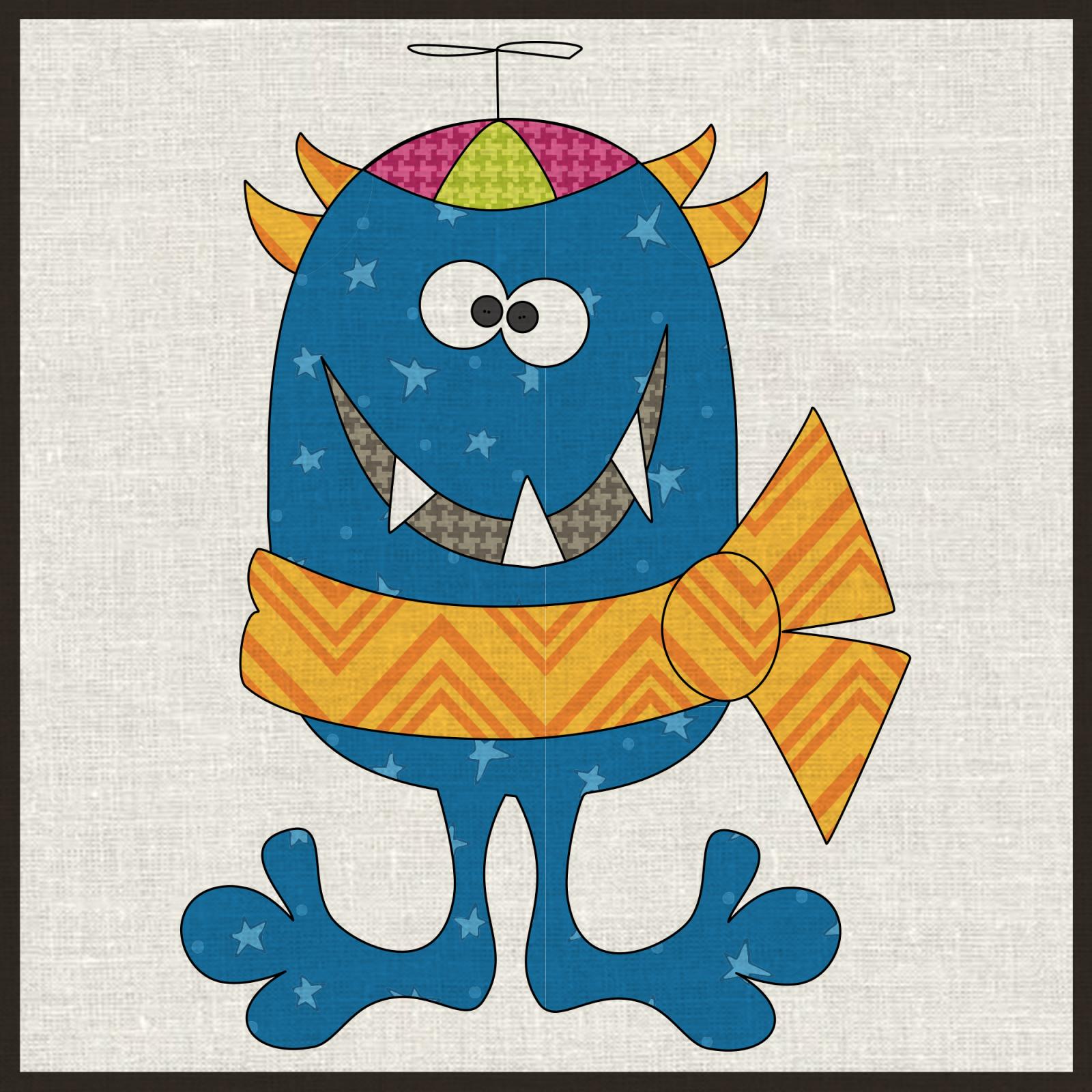 Little Boy Monster Precut Fused Applique Kit