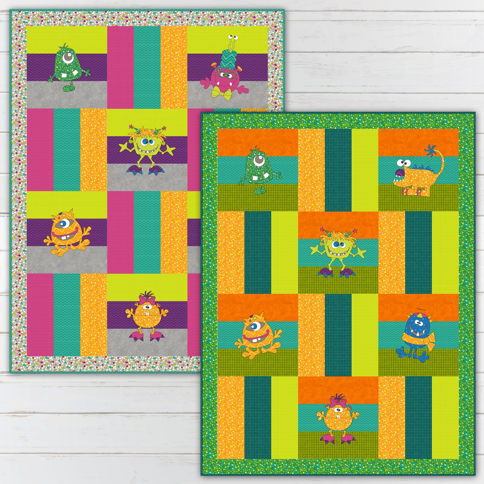 Monster Mania Quilt - Pattern