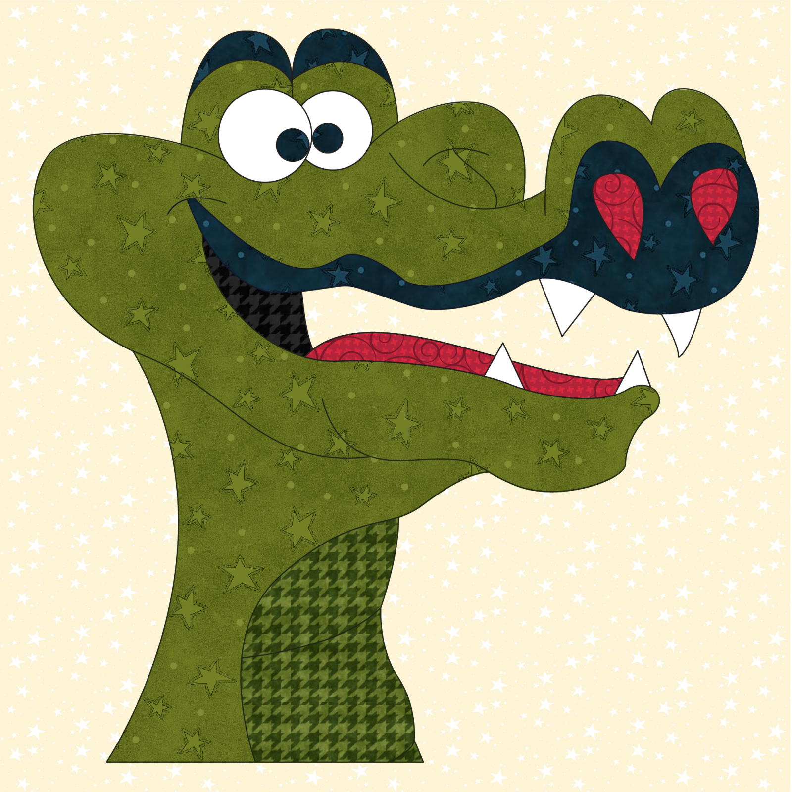Alligator Precut Prefused Applique Kit