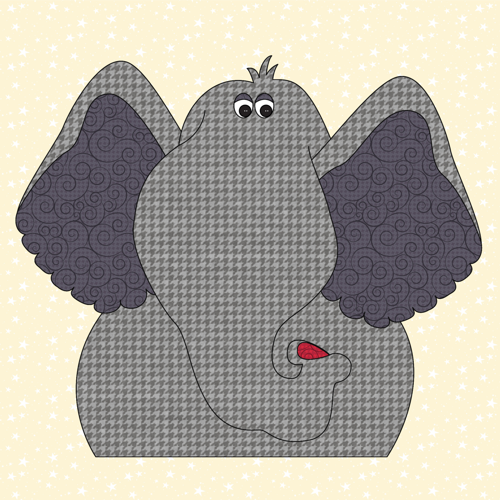 Elephant Precut Prefused Applique Kit