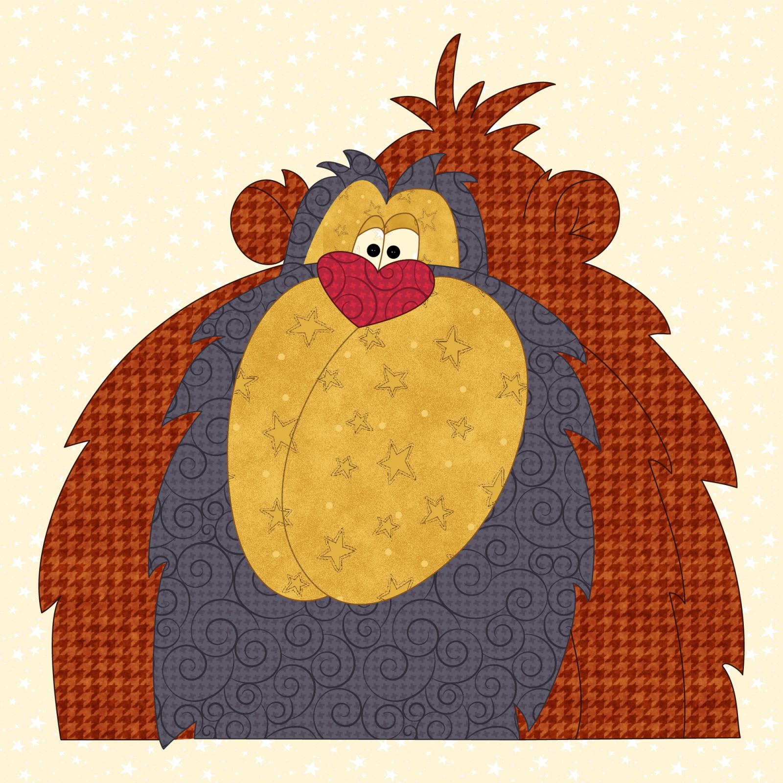 Orangutan Precut Prefused Applique Kit