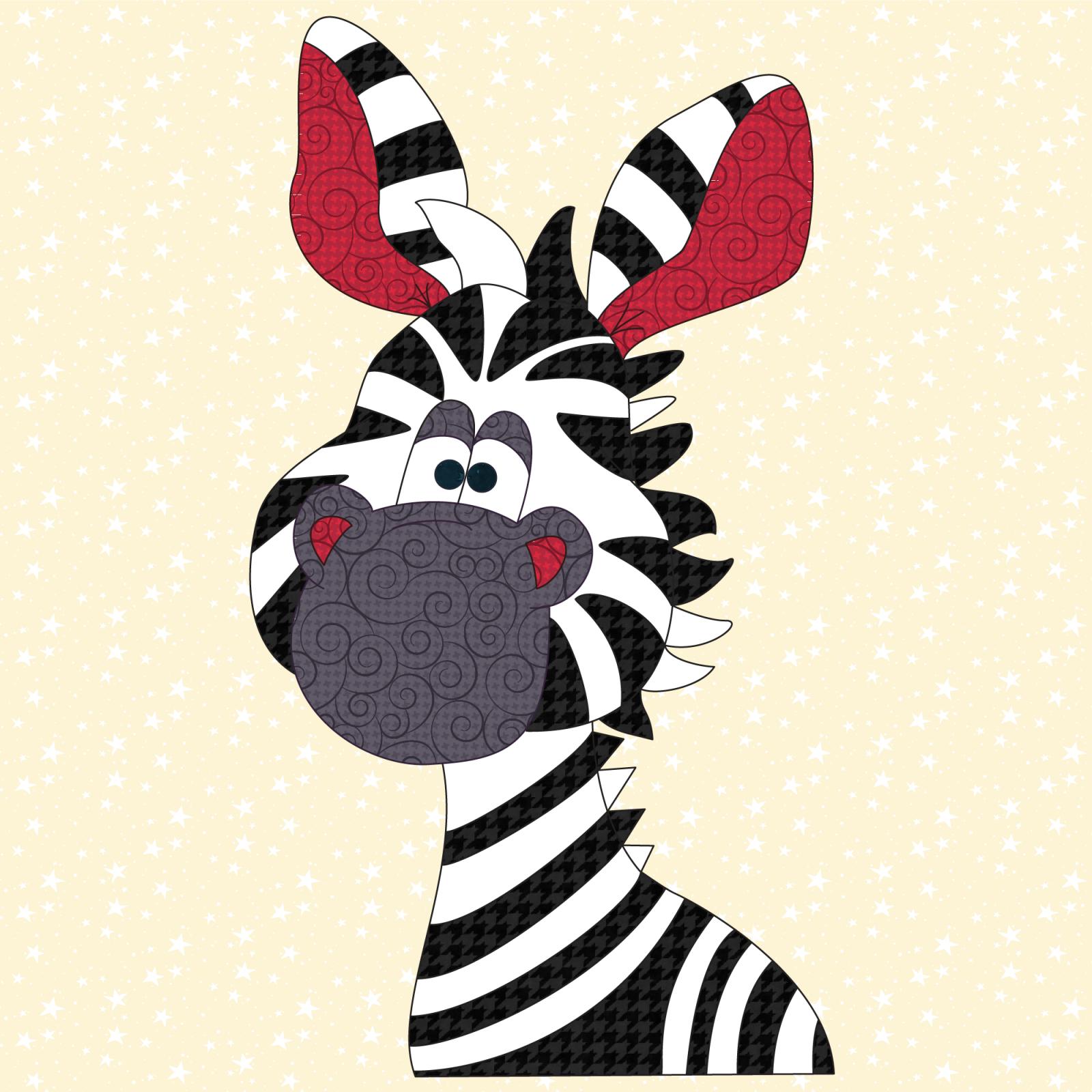 Zebra Precut Prefused Applique Kit