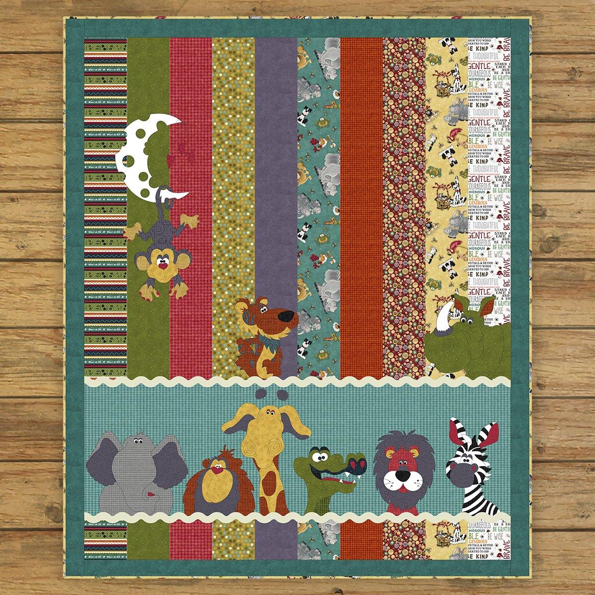 Moon & Back Critter Quilt Precut Applique Pack