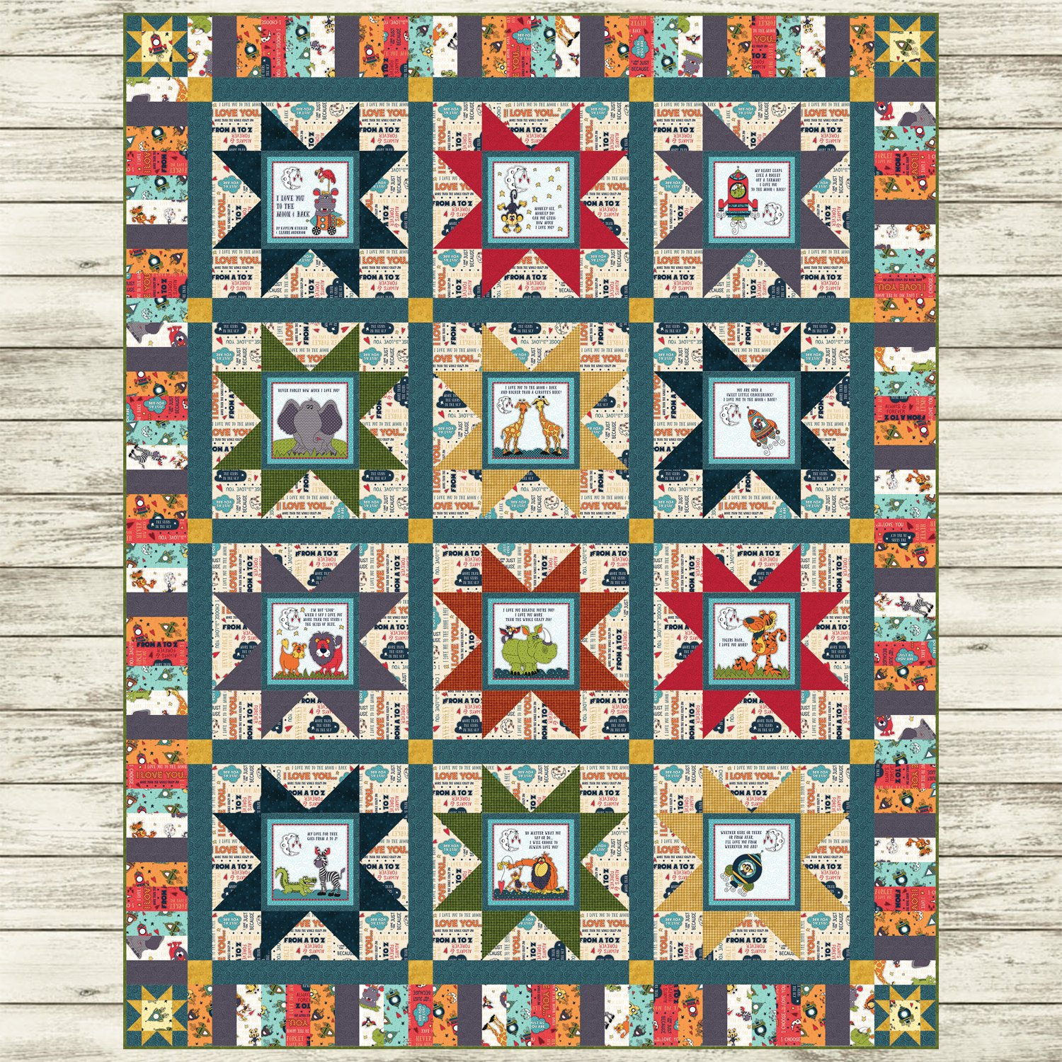 Moon & Back Book Panel Quilt