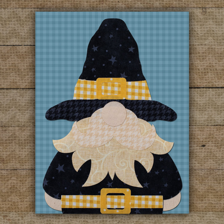 Mr. Pilgrim Gnome Precut Fused Applique Pack