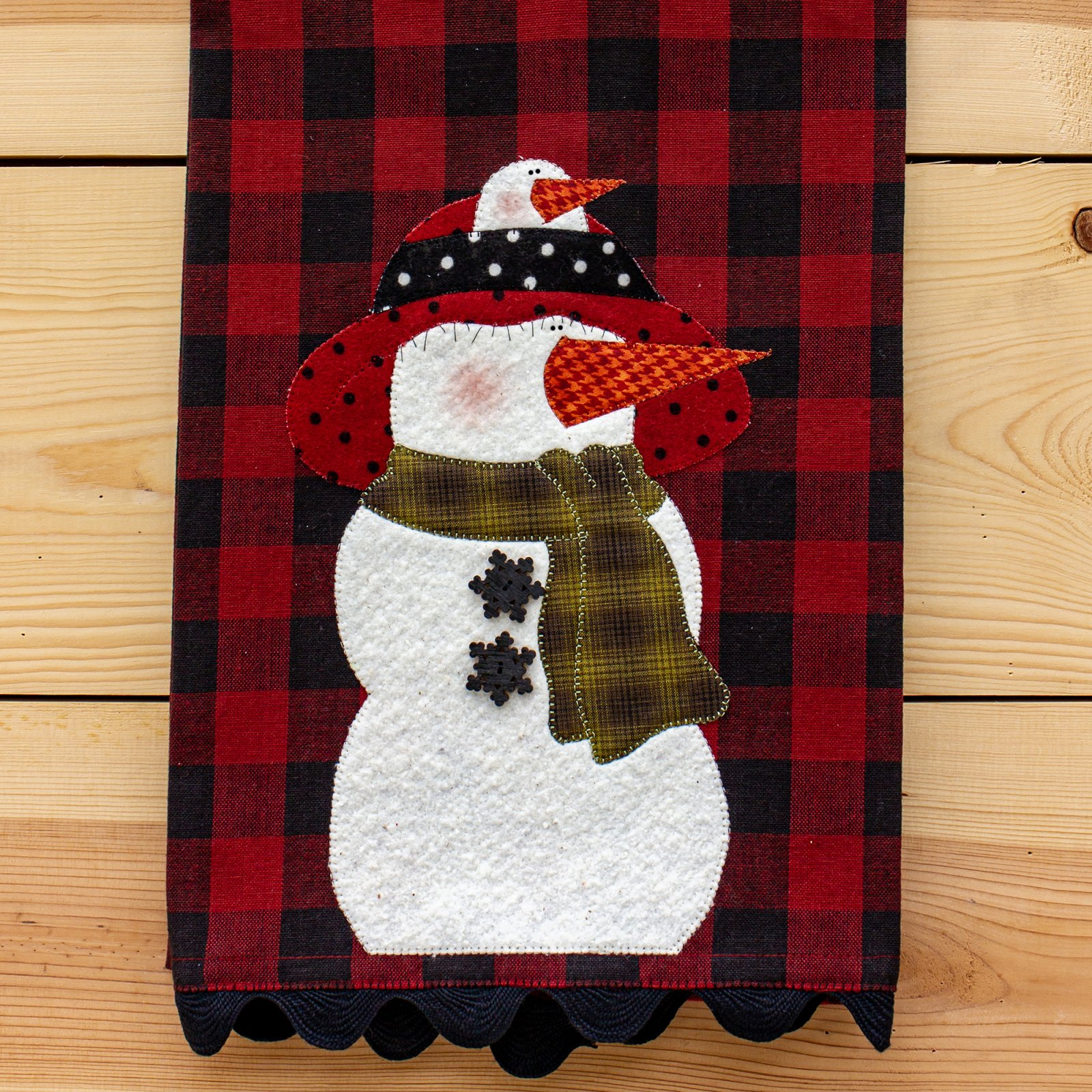 Mrs. Flake Applique Tea Towel Kit