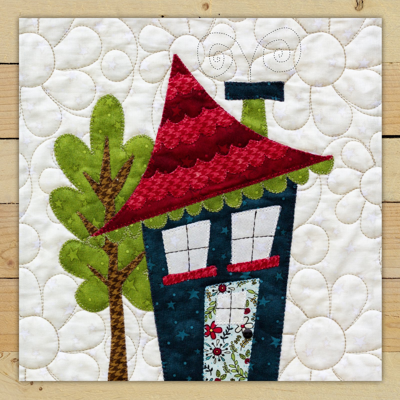 Navy House Precut Fused Applique Kit
