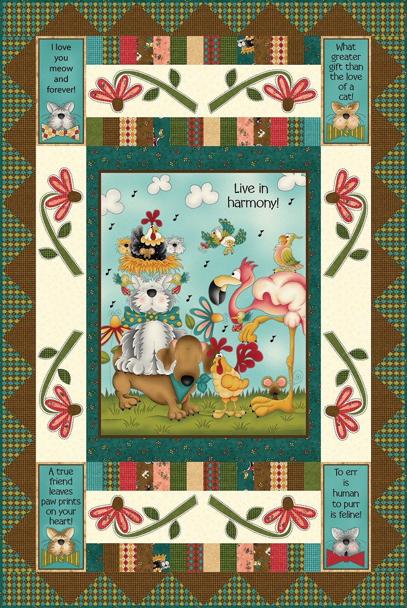 No Fowl Play Panel Quilt