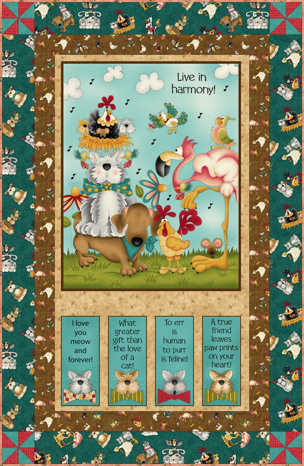 Now Fowl Play Panel Quilt