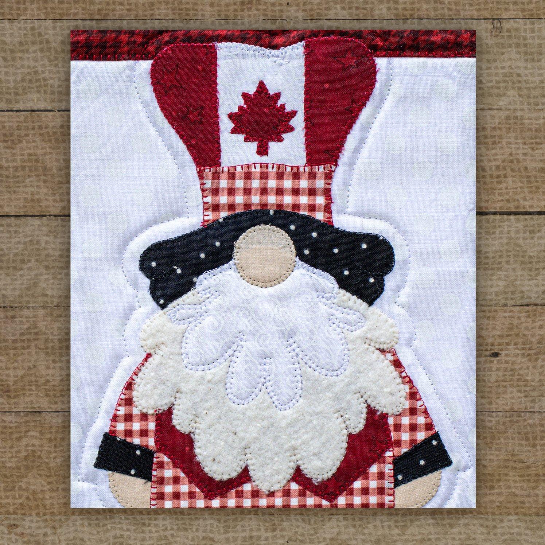 O Canada Gnome Precut Fused Applique Pack