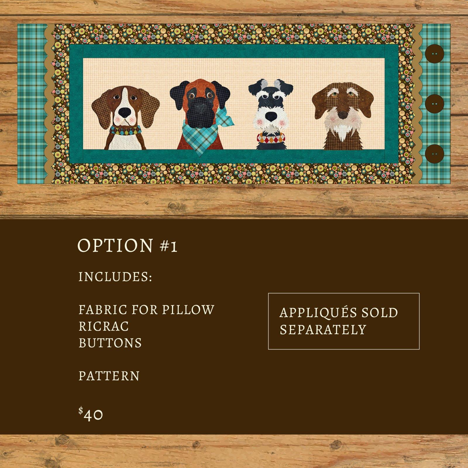 Furry Friends Applique Bench Pillow Kit