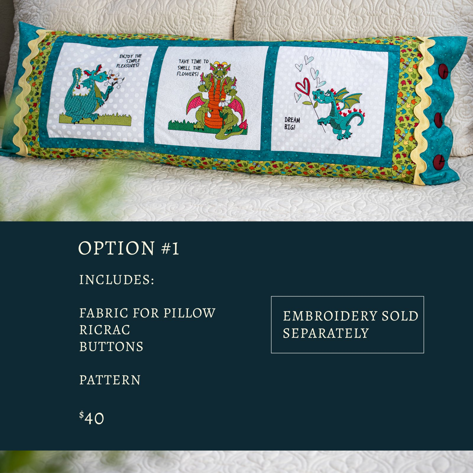 Dragon Bench Pillow - Kit