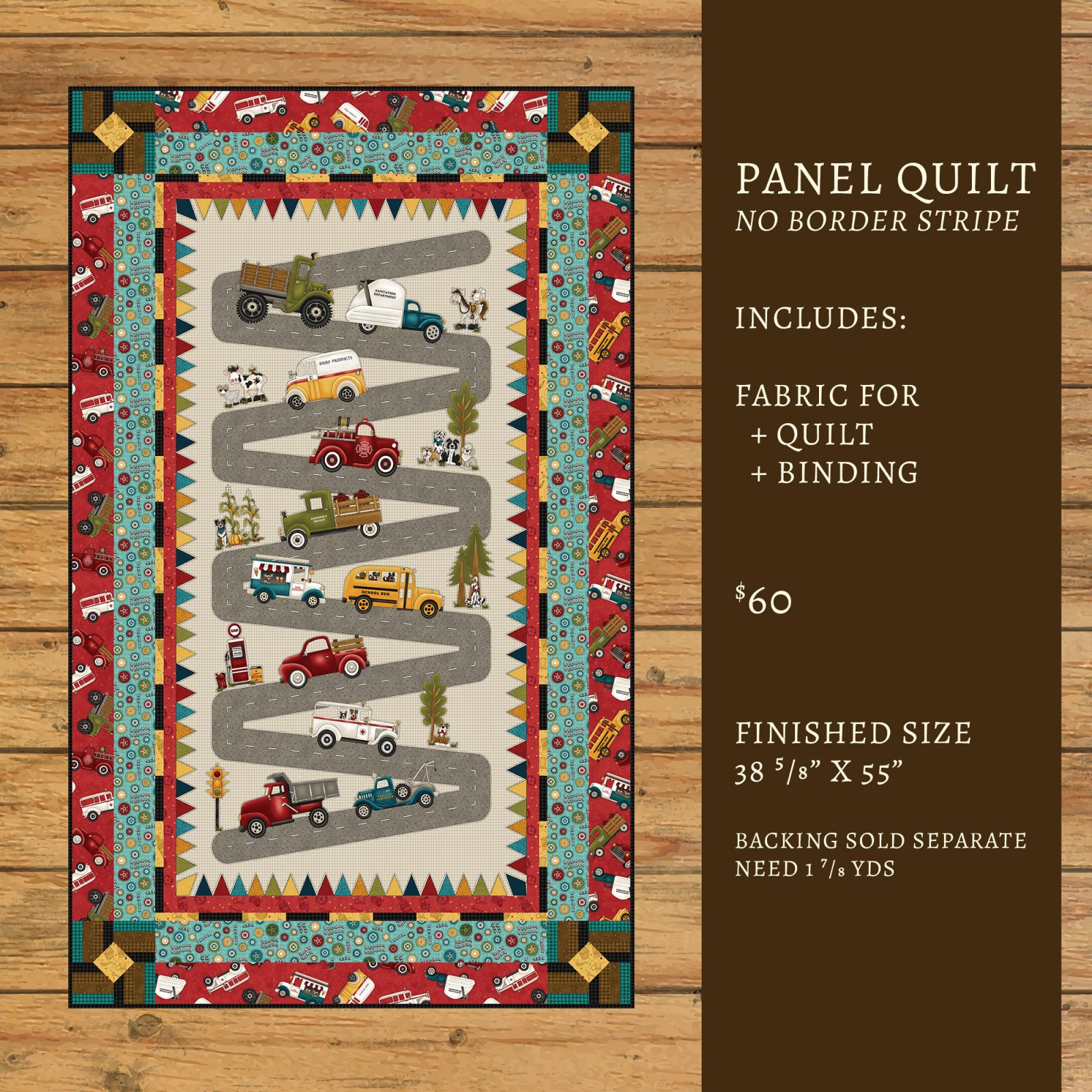 Papa's Old Truck Panel Quilt Kit #1