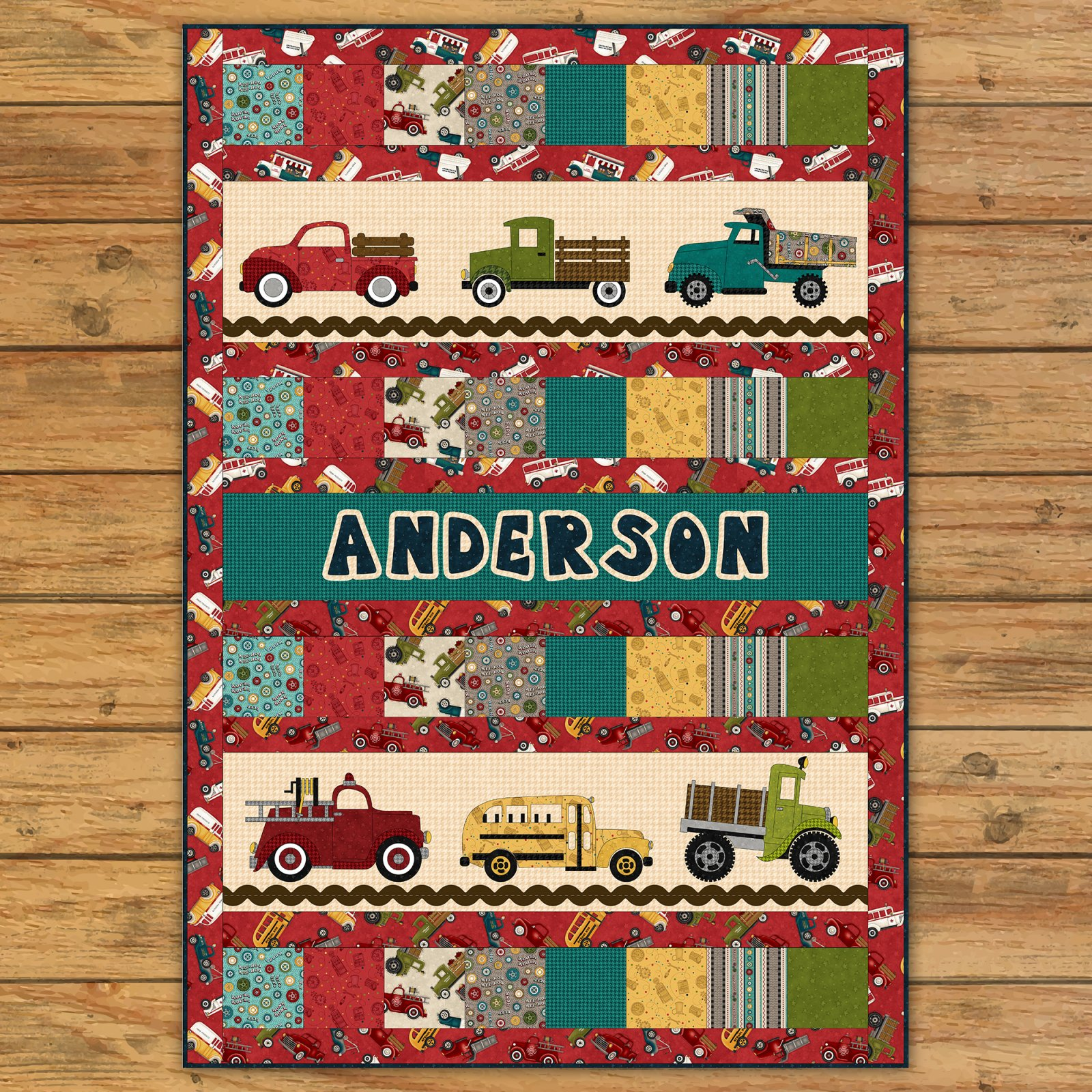 Papa's Old Truck Applique Quilt