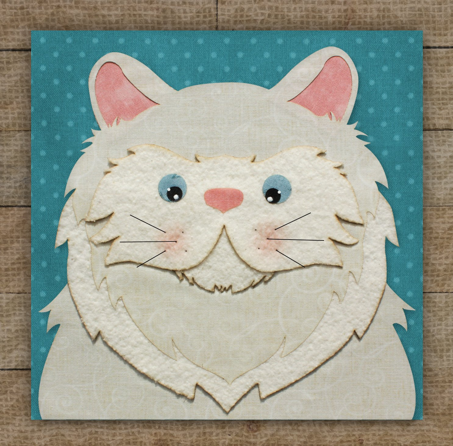 Persian Cat Precut Fused Applique Kit