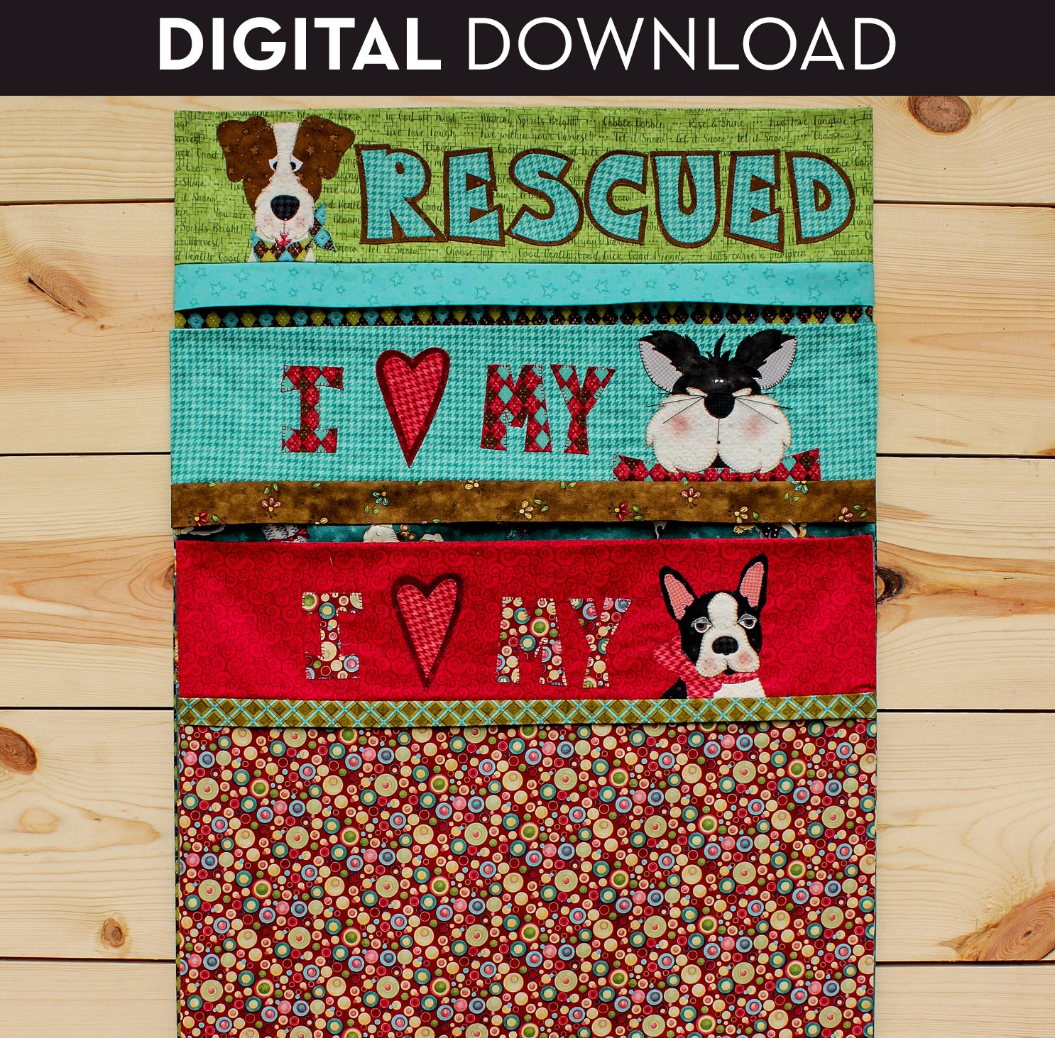 Pet Pillowcase - Download (Appliques not included)