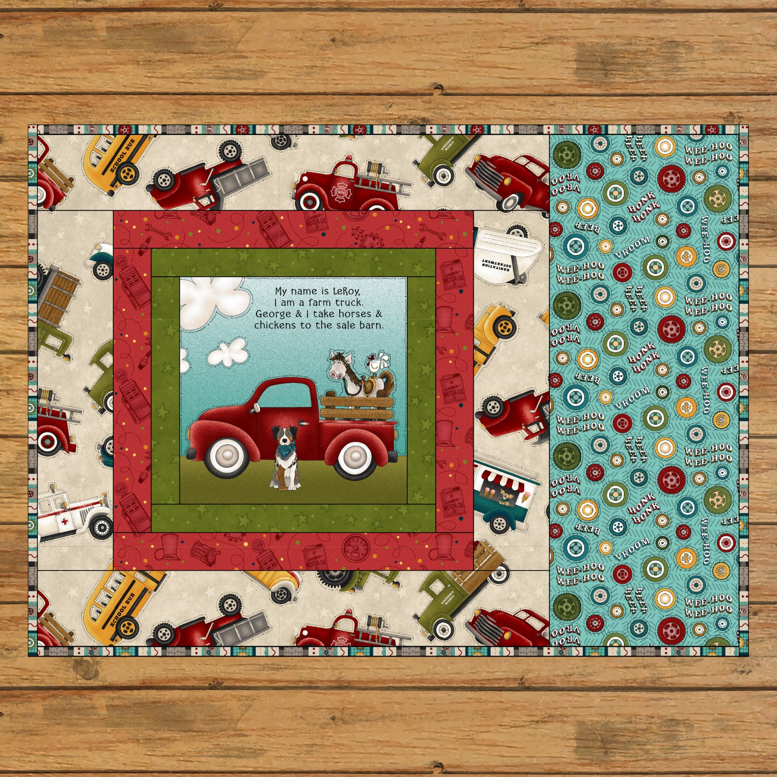 Book Panel Placemat Pattern