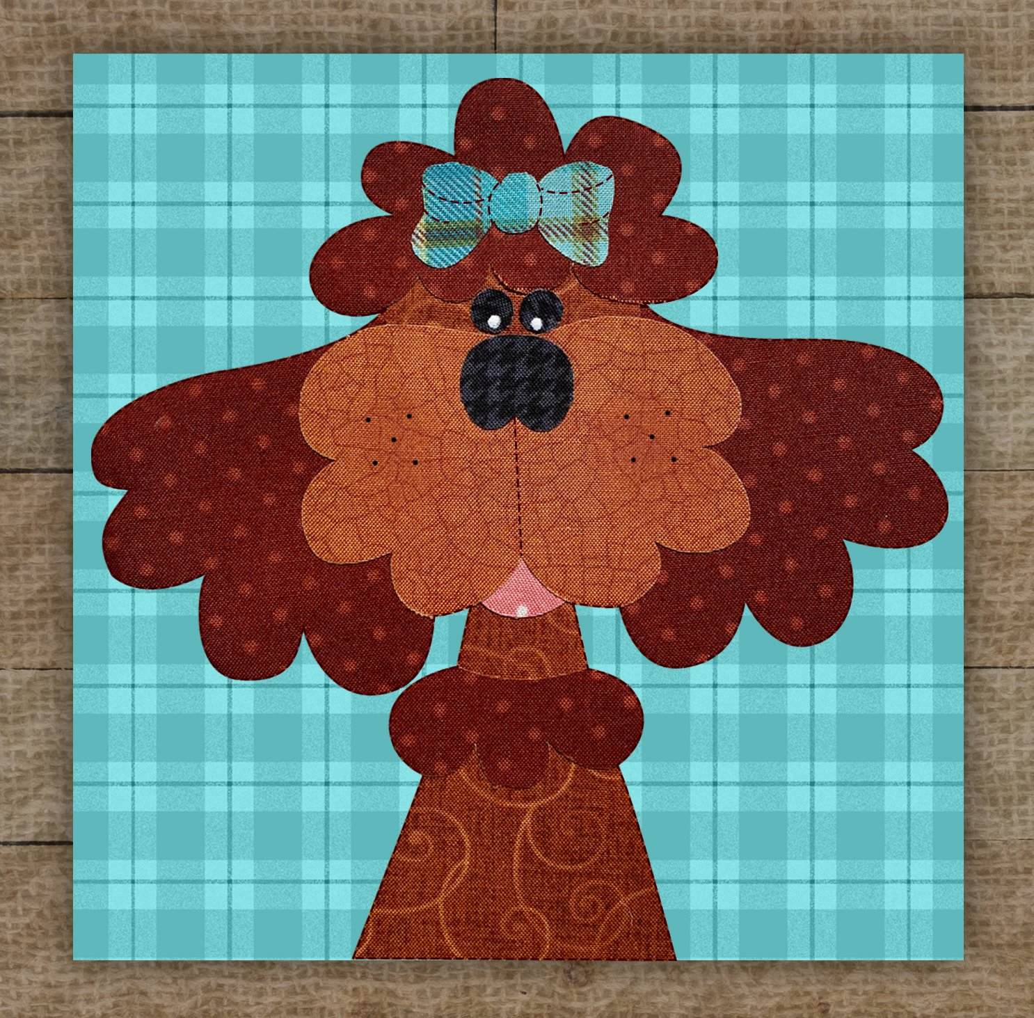Poodle (Apricot) Precut Fused Applique Kit