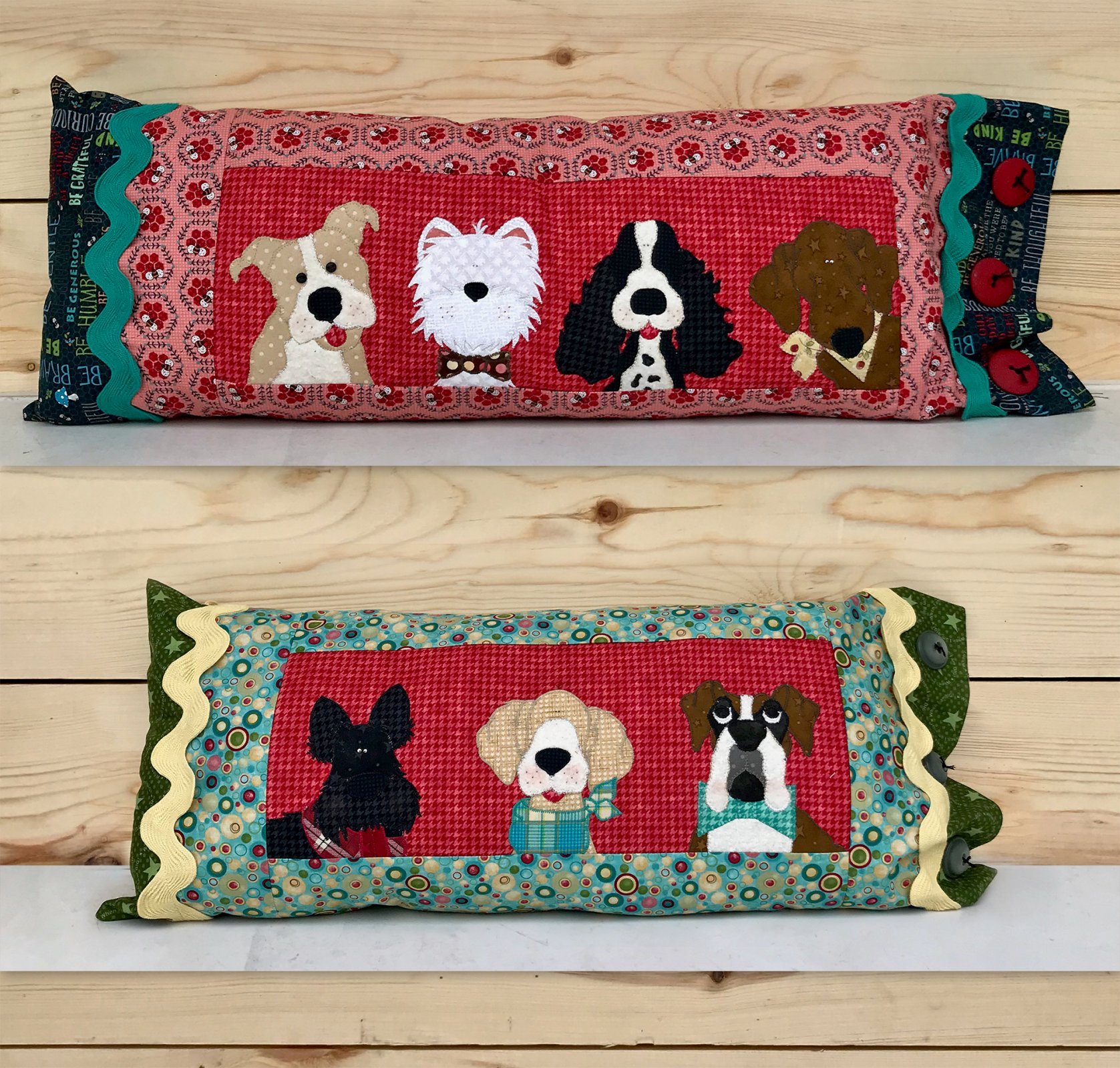Puppy Bolster Pillows