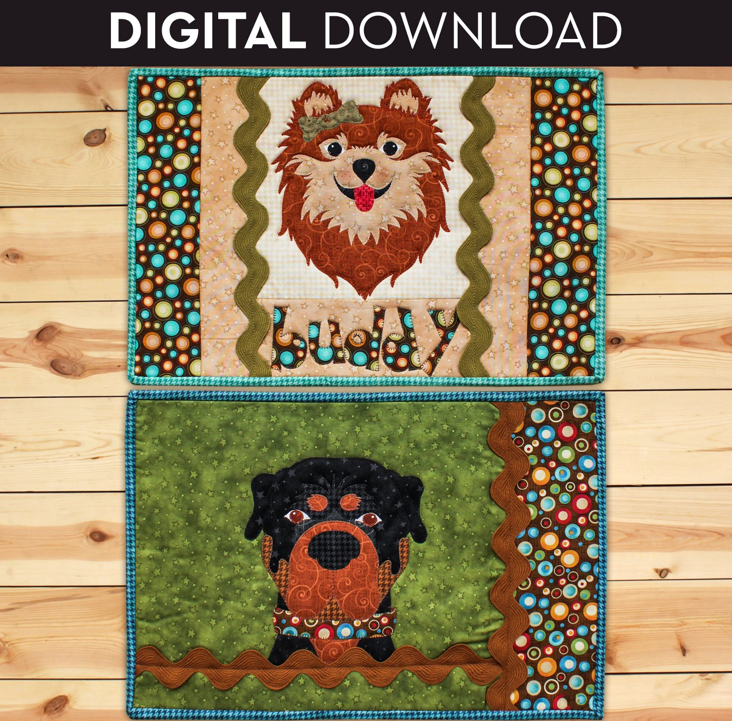 Puppy Placemats - Download (Appliques not included)