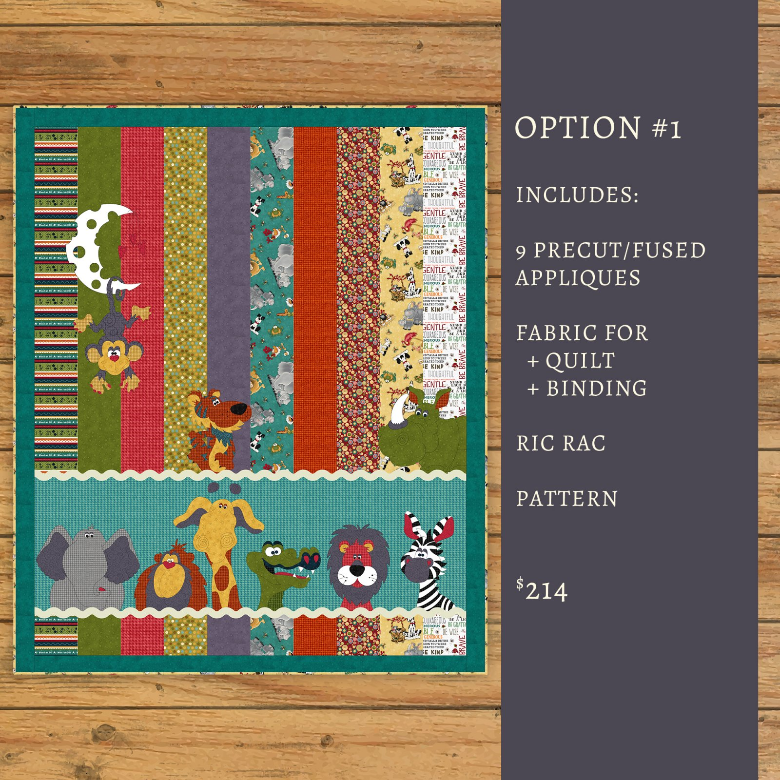 Moon & Back Critter Quilt - Kit