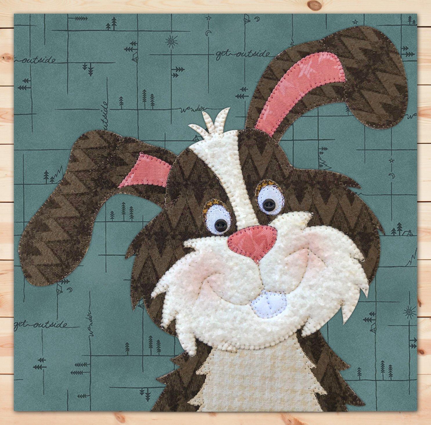 Rabbit (Large) Flannel Precut Applique
