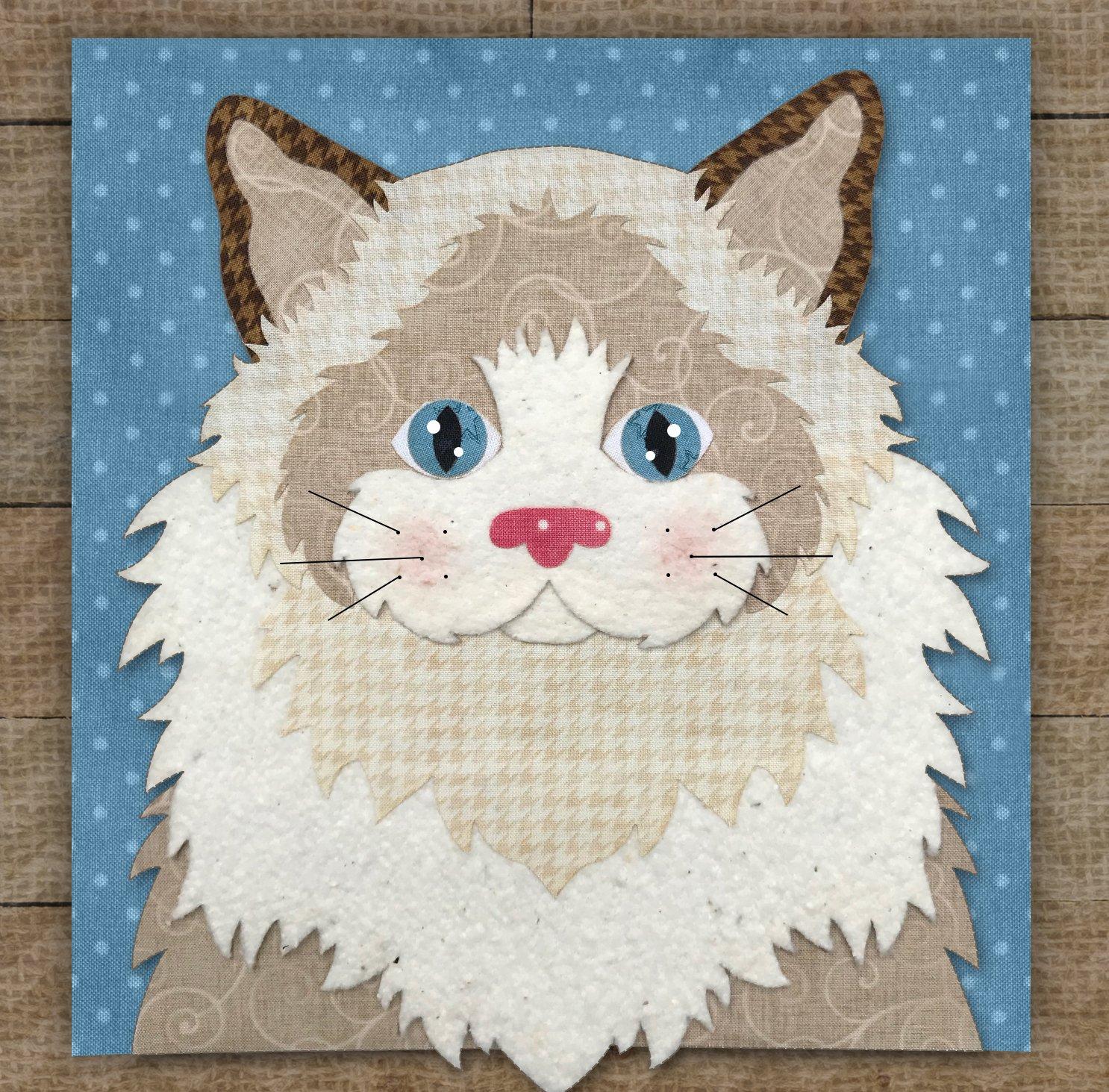 Ragdoll Cat Precut Fused Applique Kit
