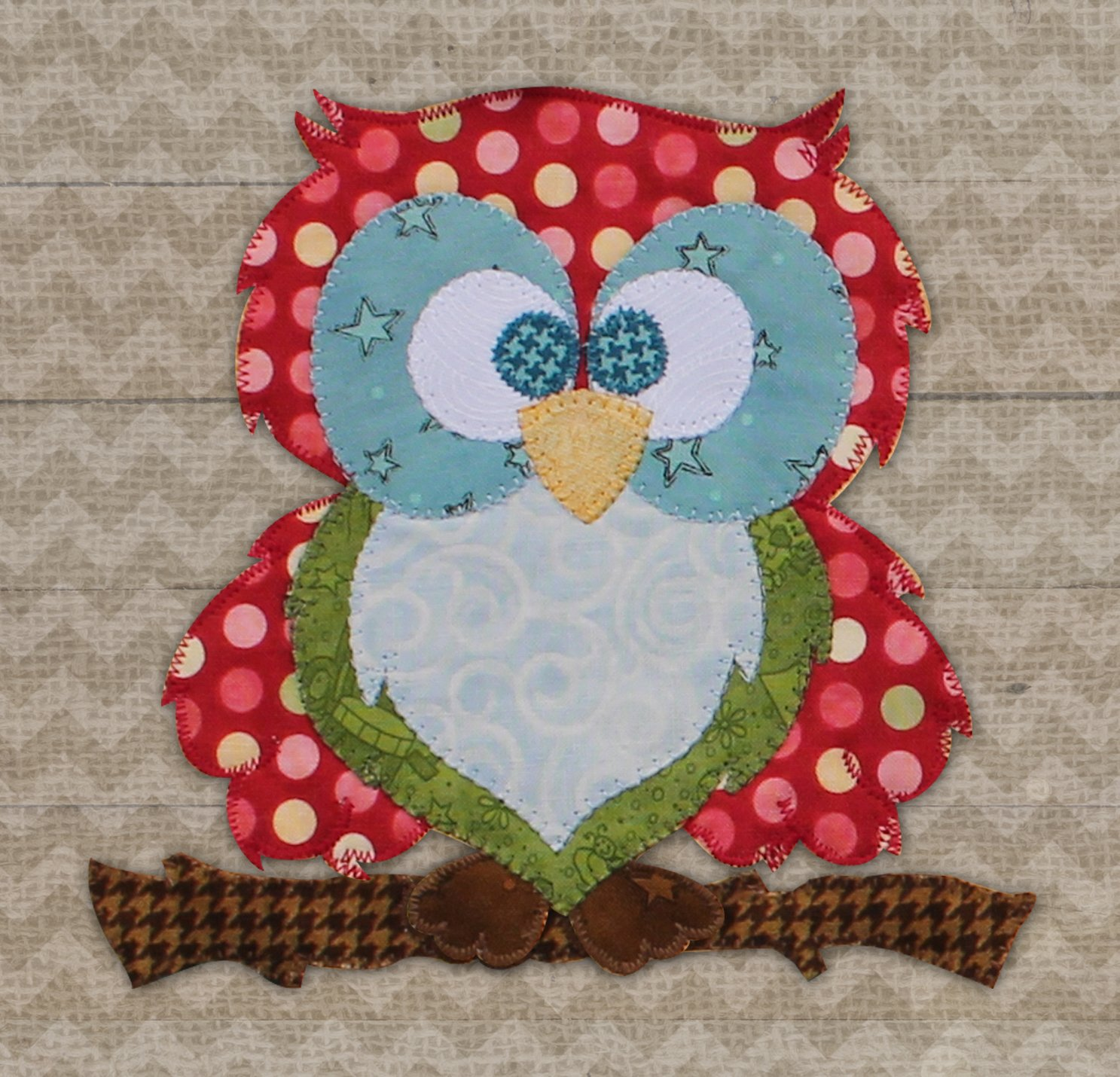 Red Owl #1 Precut Fused Applique Kit