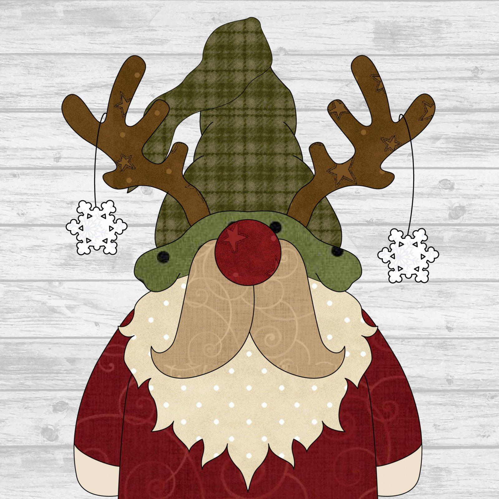 Reindeer Gnome Precut Fused Applique Pack
