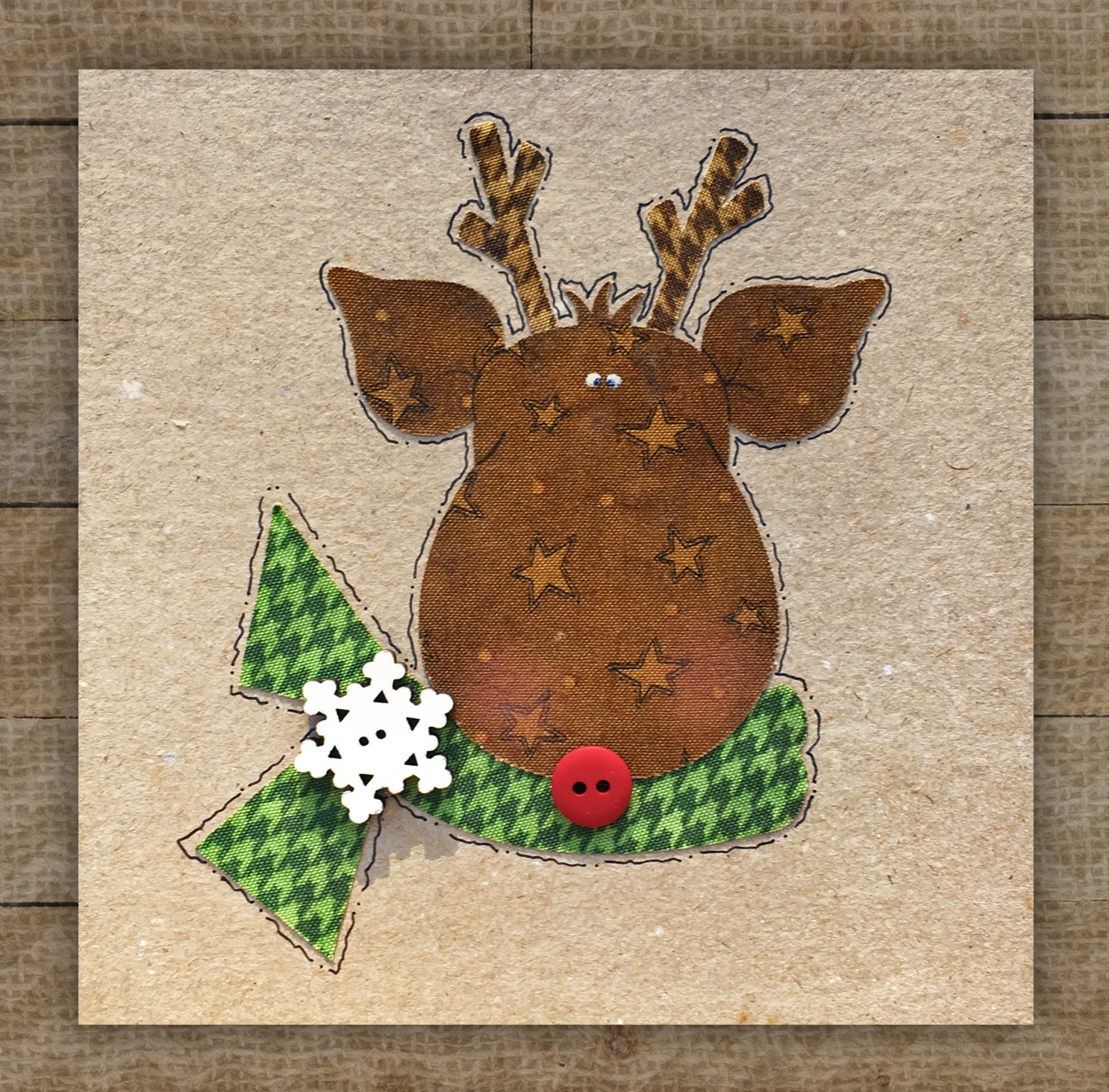 Reindeer Precut Fused Applique Kit