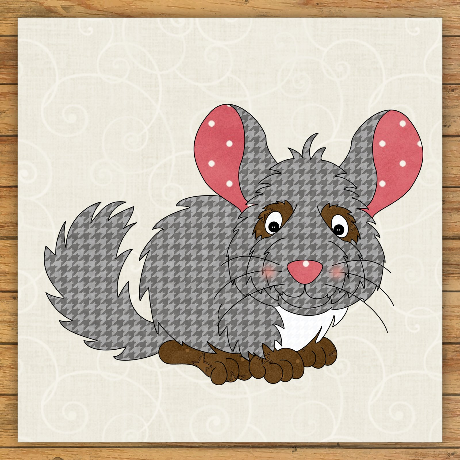 Chinchilla Precut Fused Applique Kit