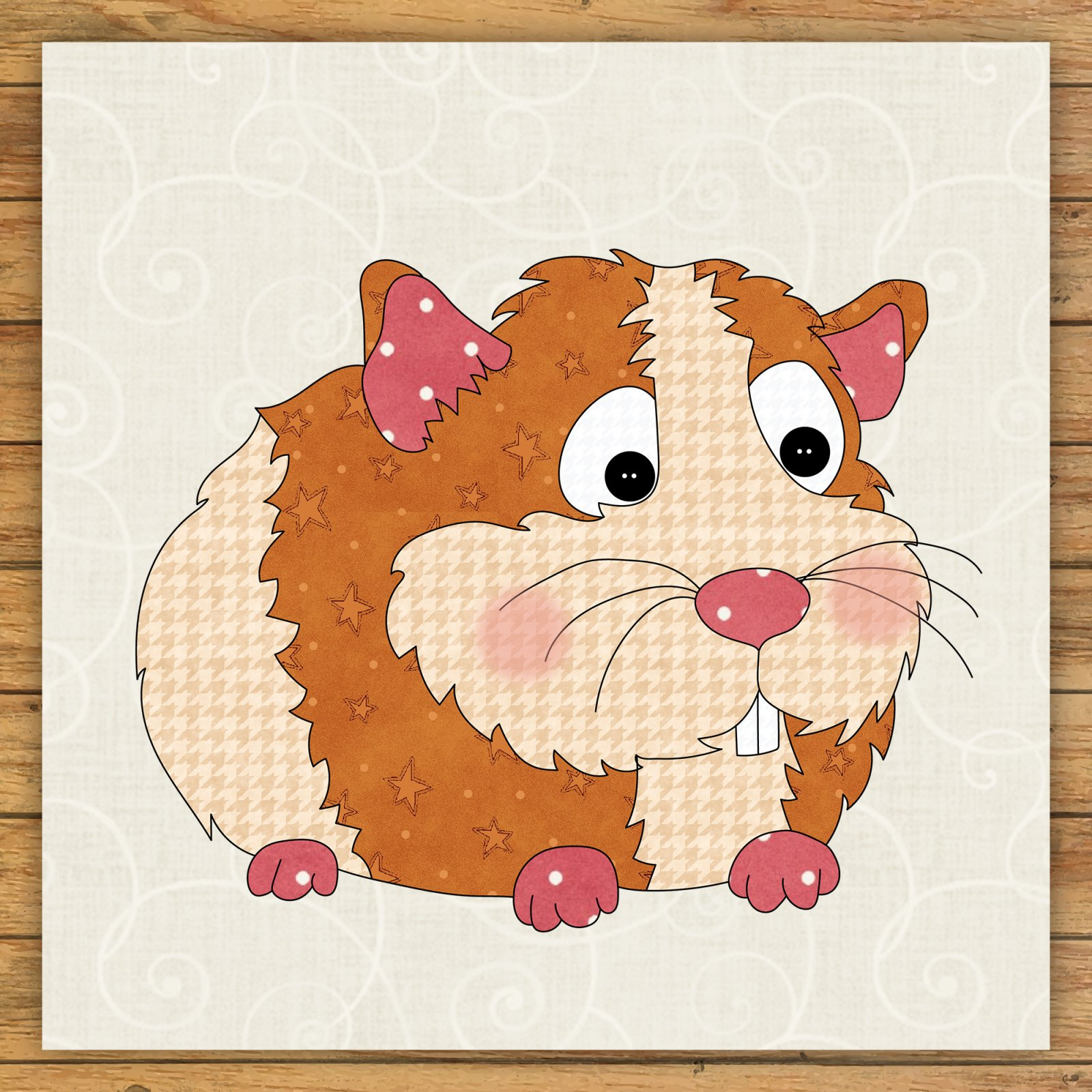 Guinea Pig Precut Fused Applique Kit