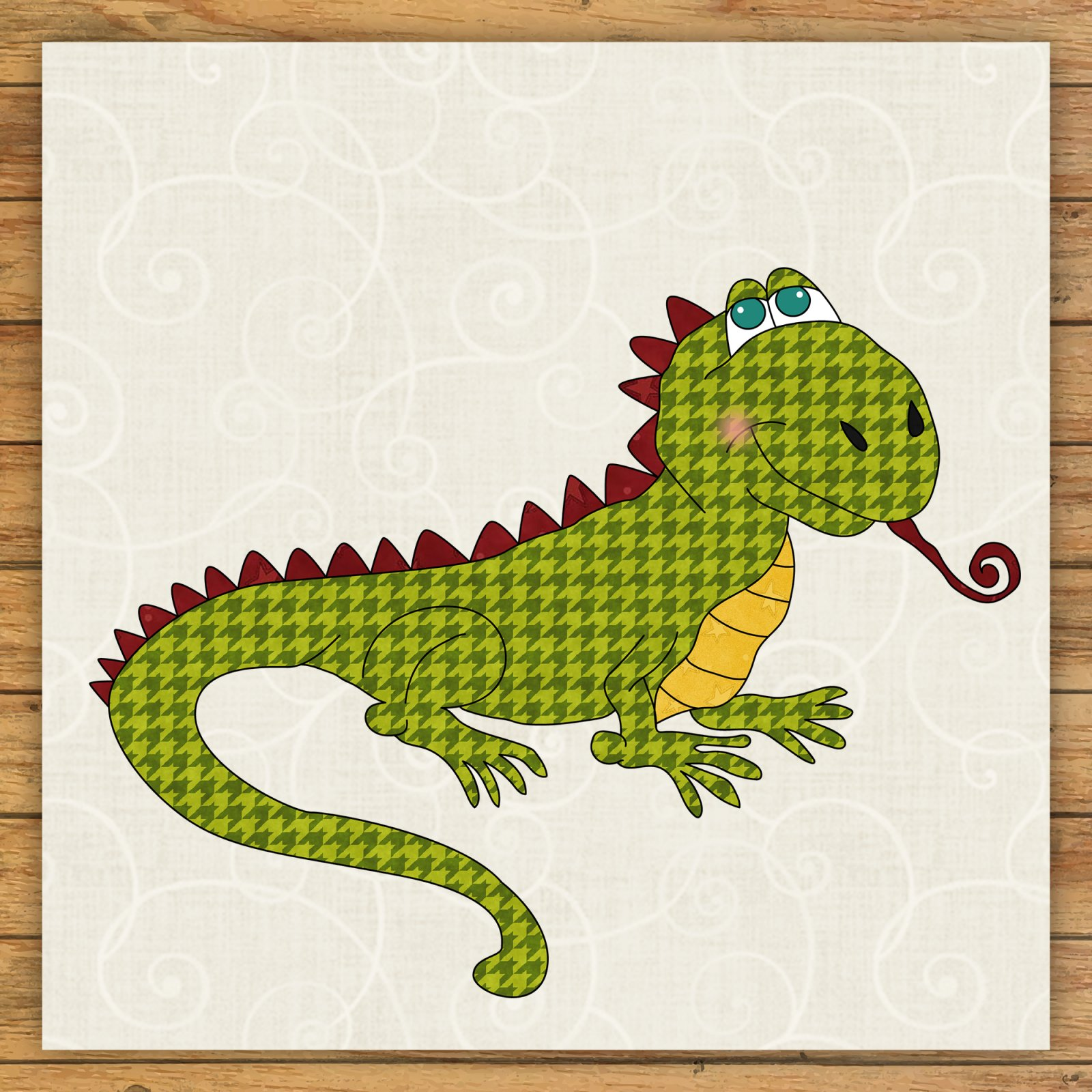 Lizard Precut Fused Applique Kit