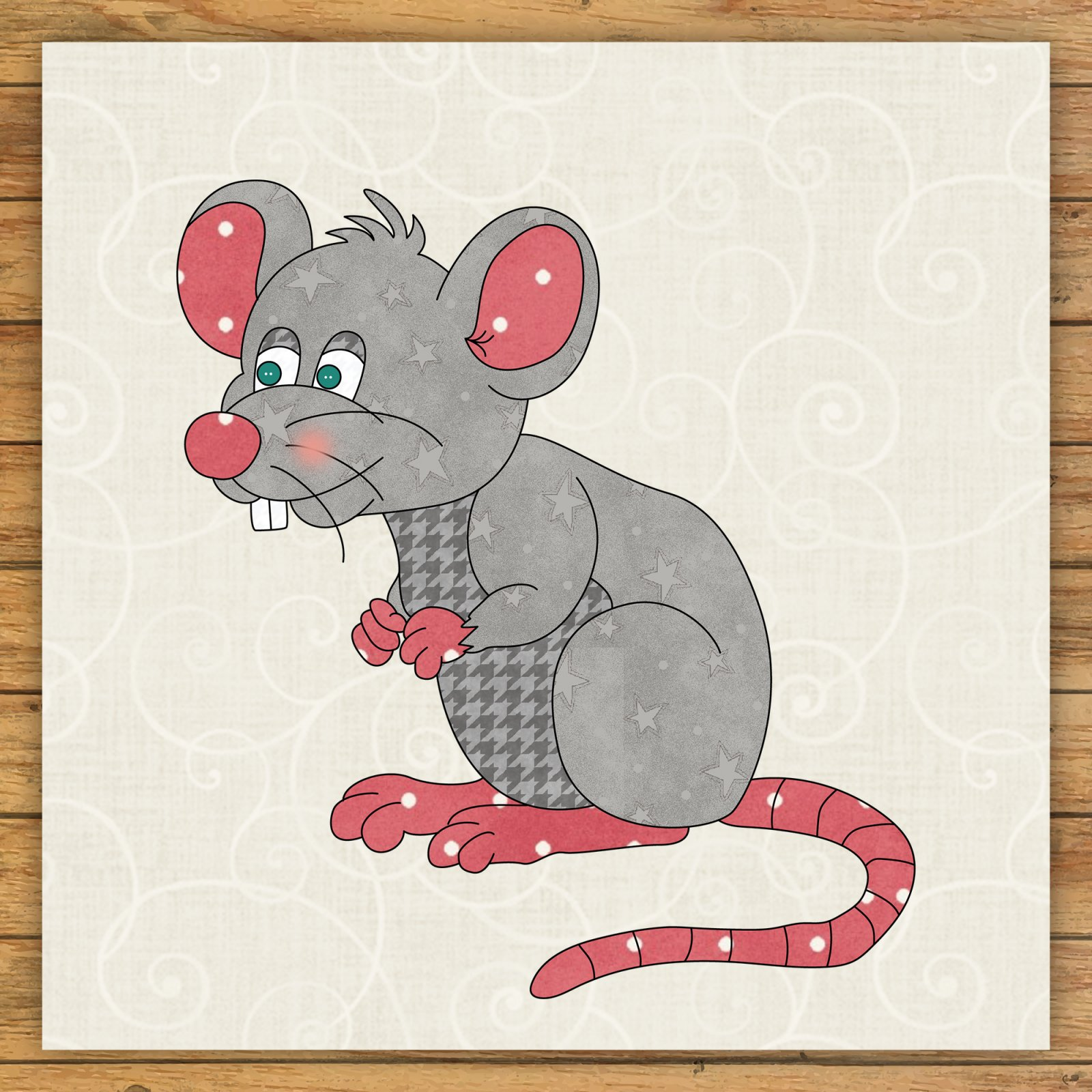 Mouse 2 Precut Fused Applique Kit