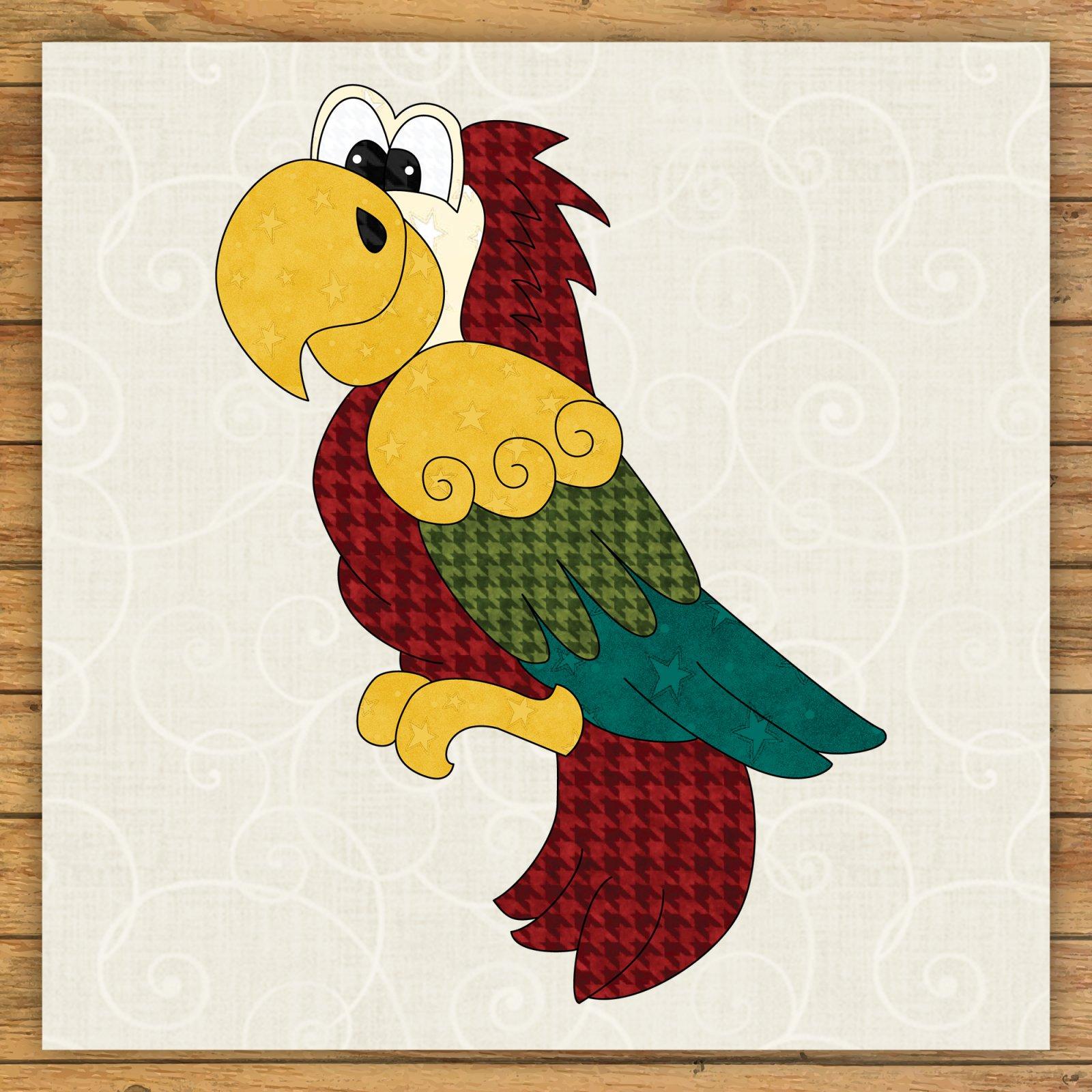 Parrot Precut Fused Applique Kit