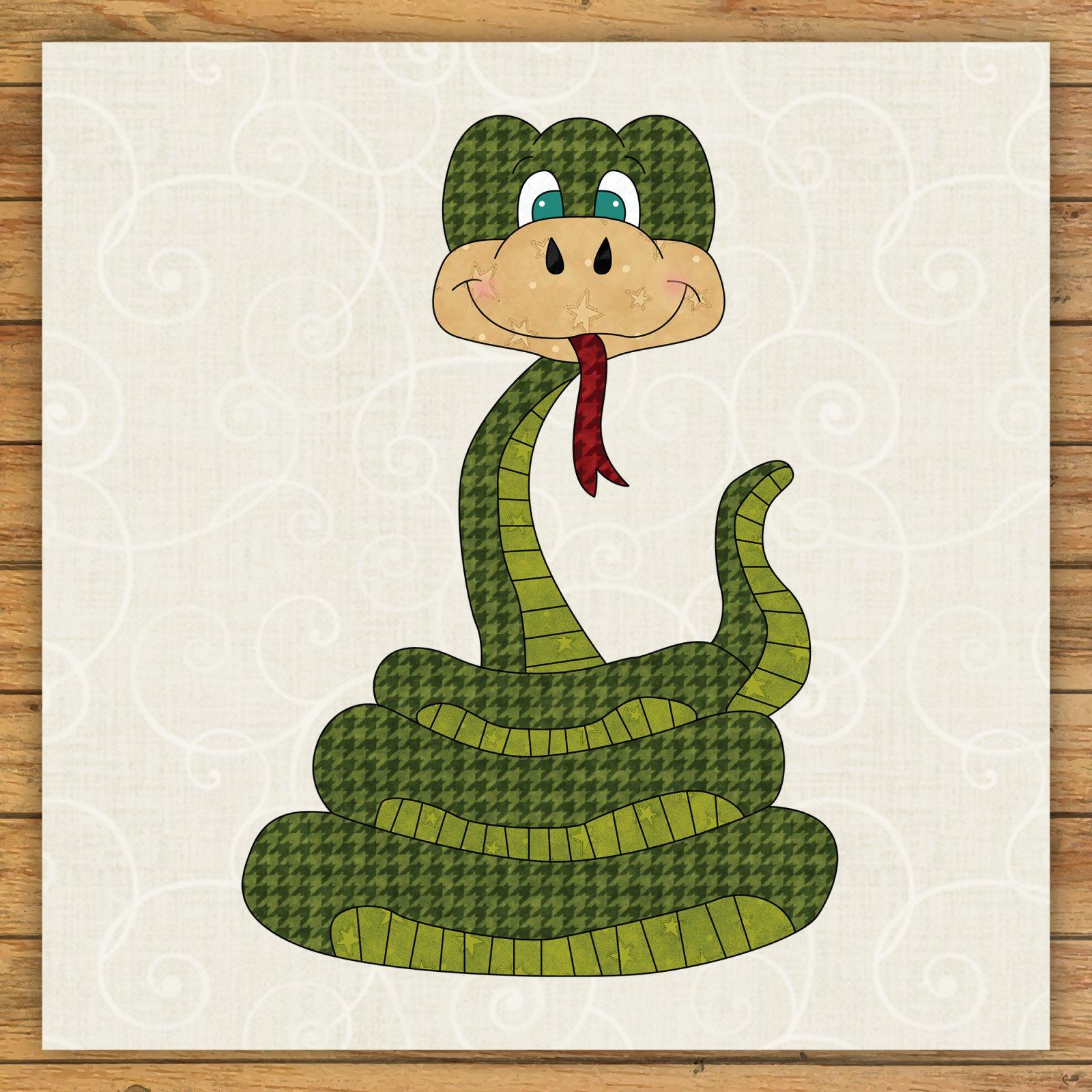 Snake Precut Fused Applique Kit