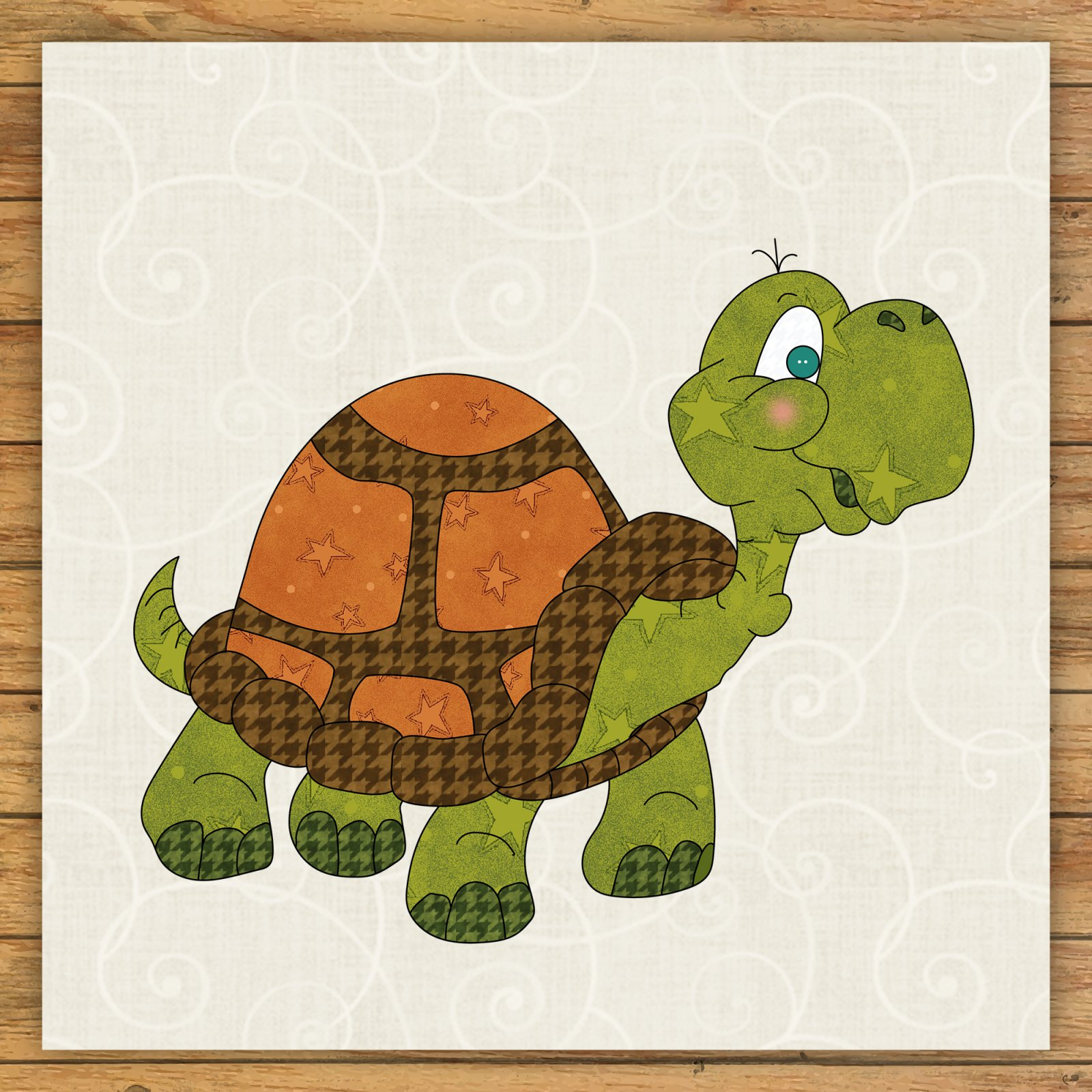 Turtle Precut Fused Applique Kit