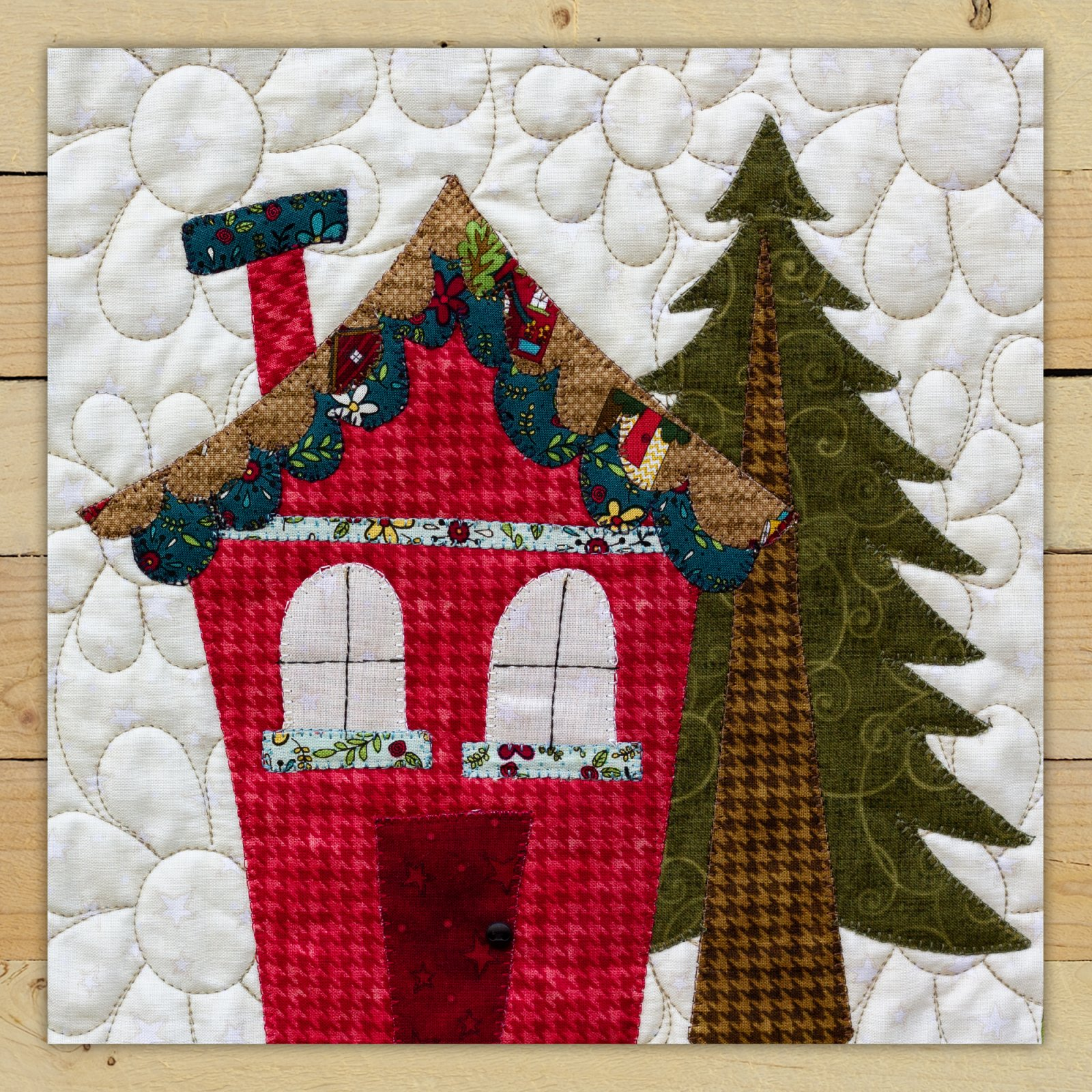 Rose House Precut Fused Applique Kit