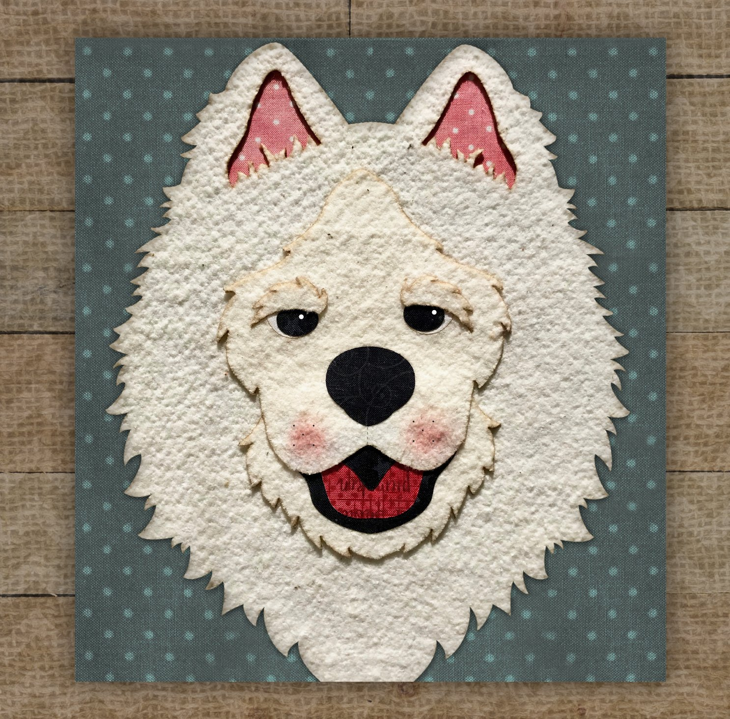 Samoyed Precut Fused Applique Kit