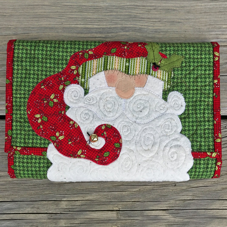 Santa Swirly Beard Doodle Pad - Pattern