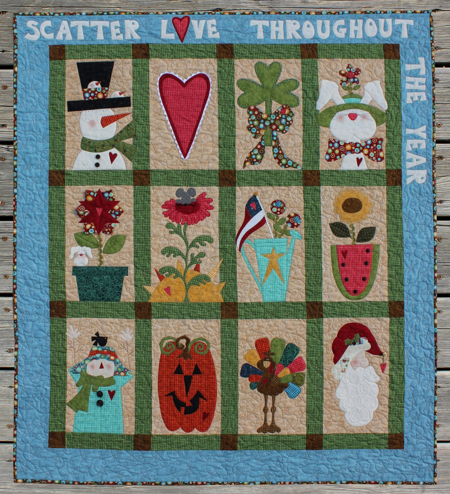 Scatter Love Throughout the Year Applique Pack