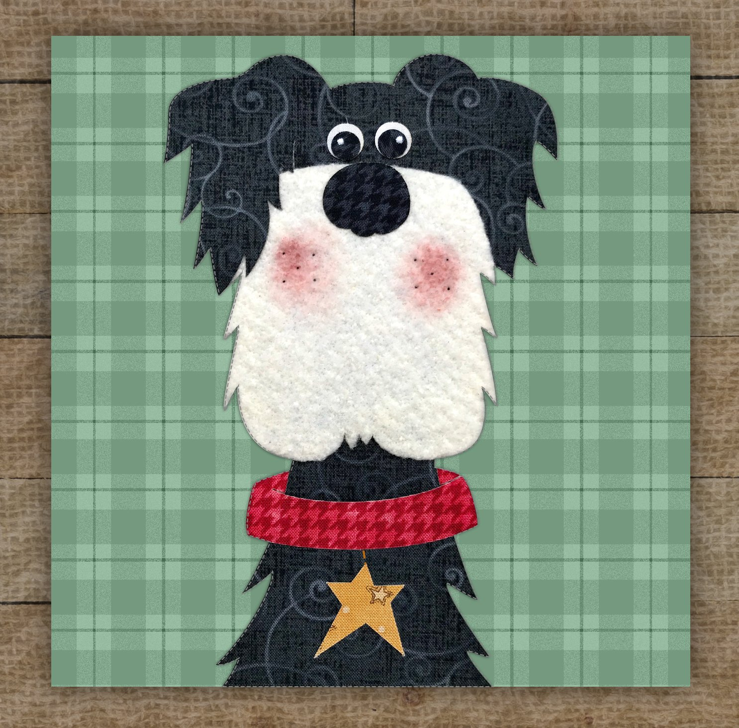 Schnauzer Precut Fused Applique Kit