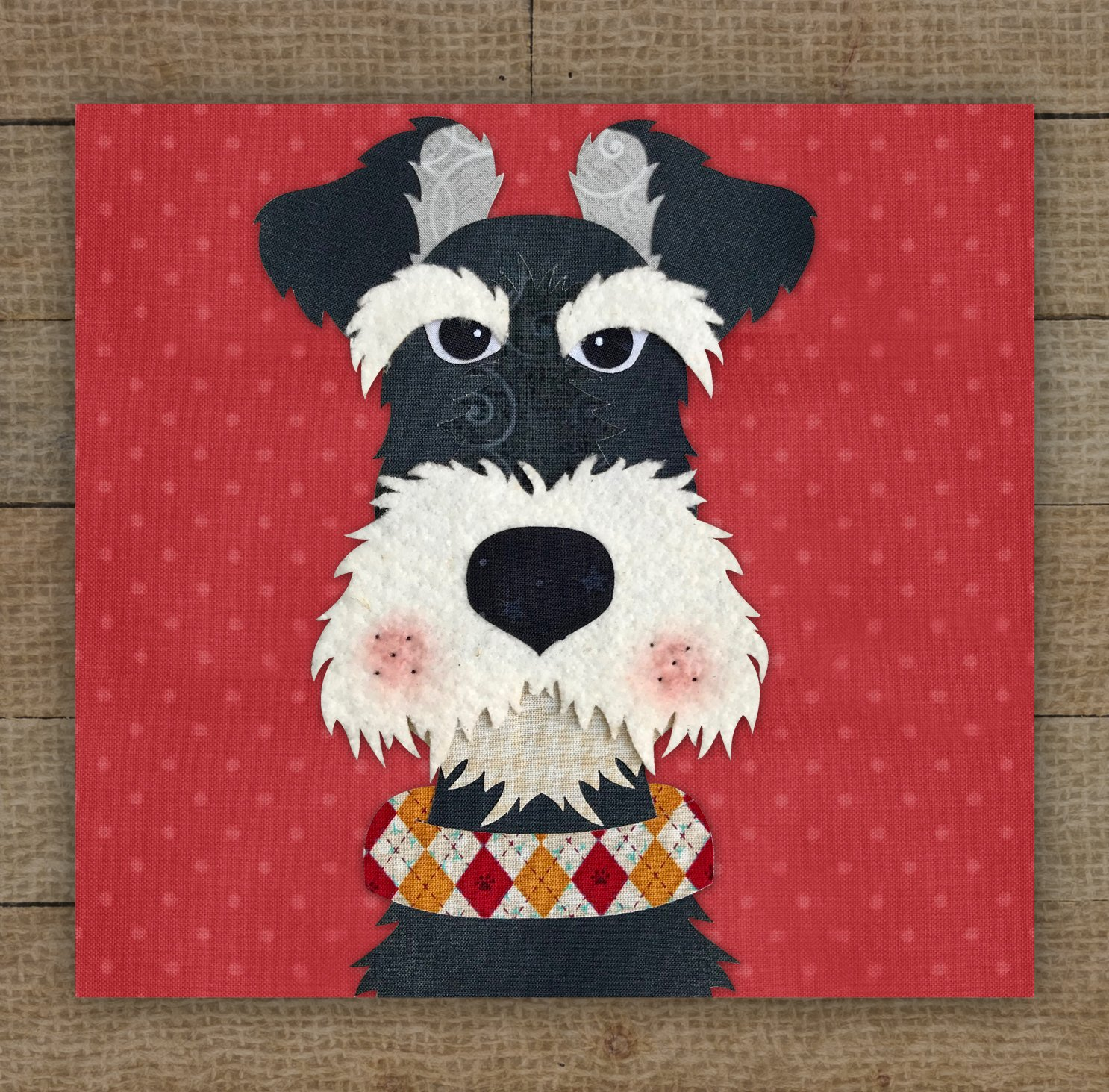 Schnauzer 2 Precut Fused Applique Kit